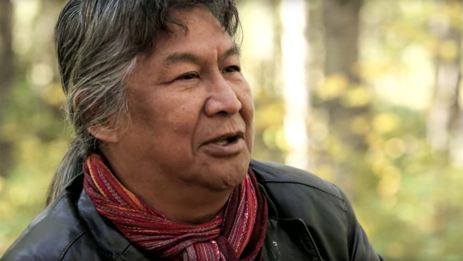 Dene man speaking about forest conservation
